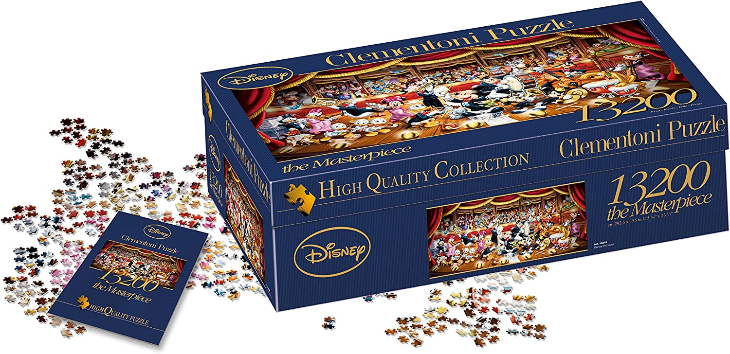 Clementoni - Puzzle 13.200 piezas orquesta disney (38010) , color ...