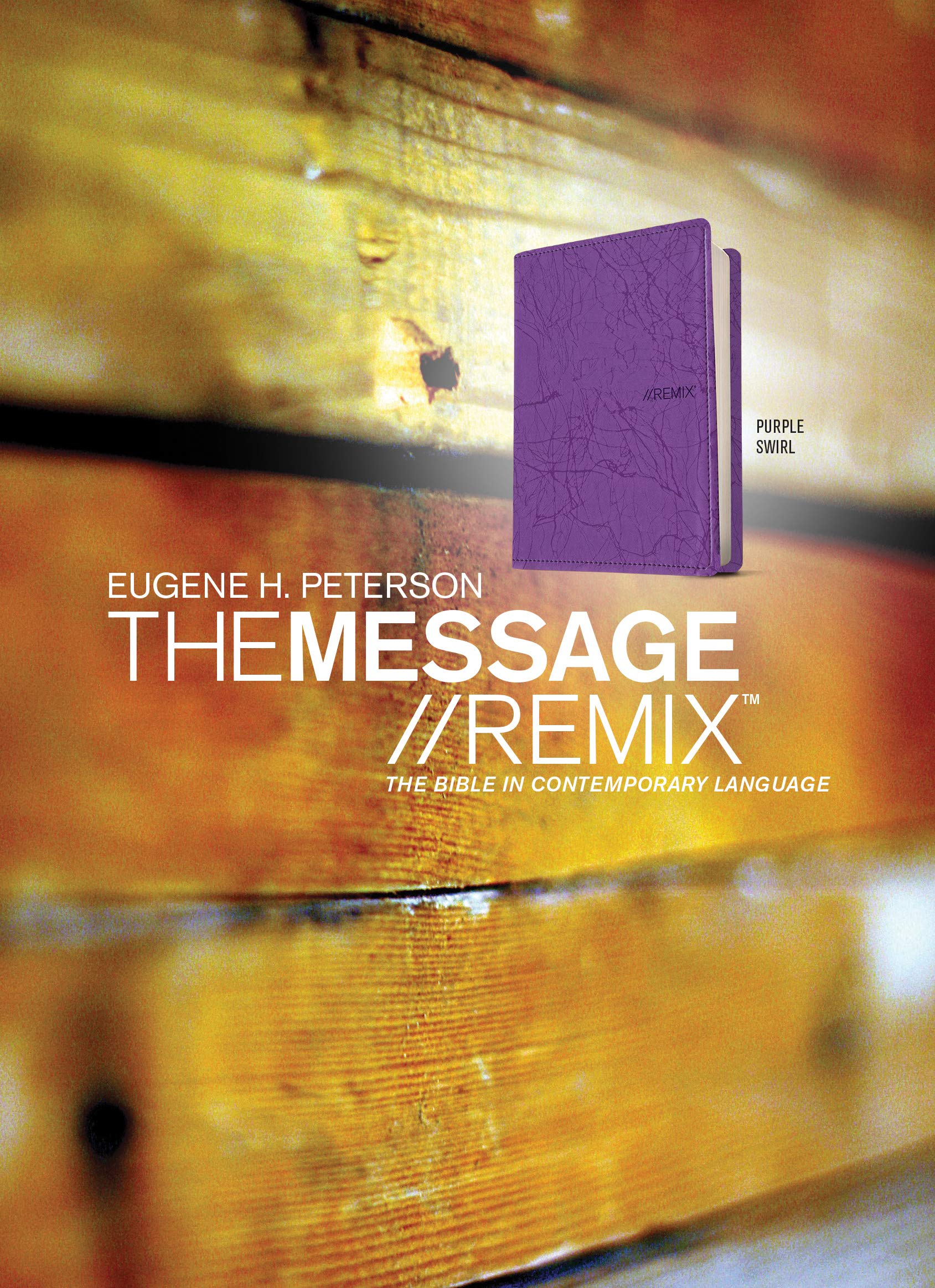 The Message//REMIX (Leather-Look, Purple): The Bible in