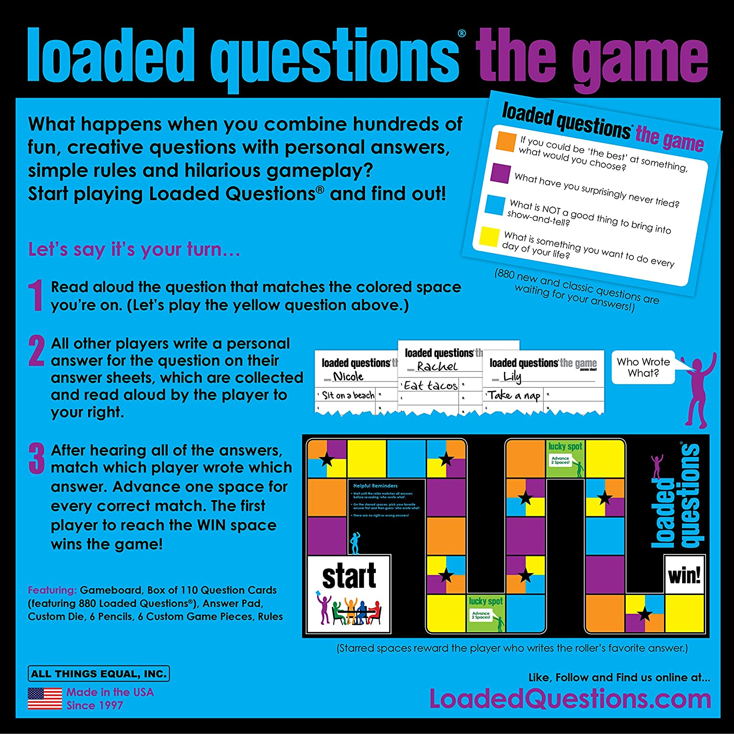 Amazon.com: Loaded Questions - The Family/Friends Version of the ...