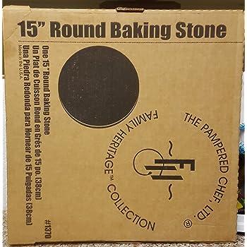 Amazon Com Pampered Chef 15 Quot Large Flat Pizza Stoneware
