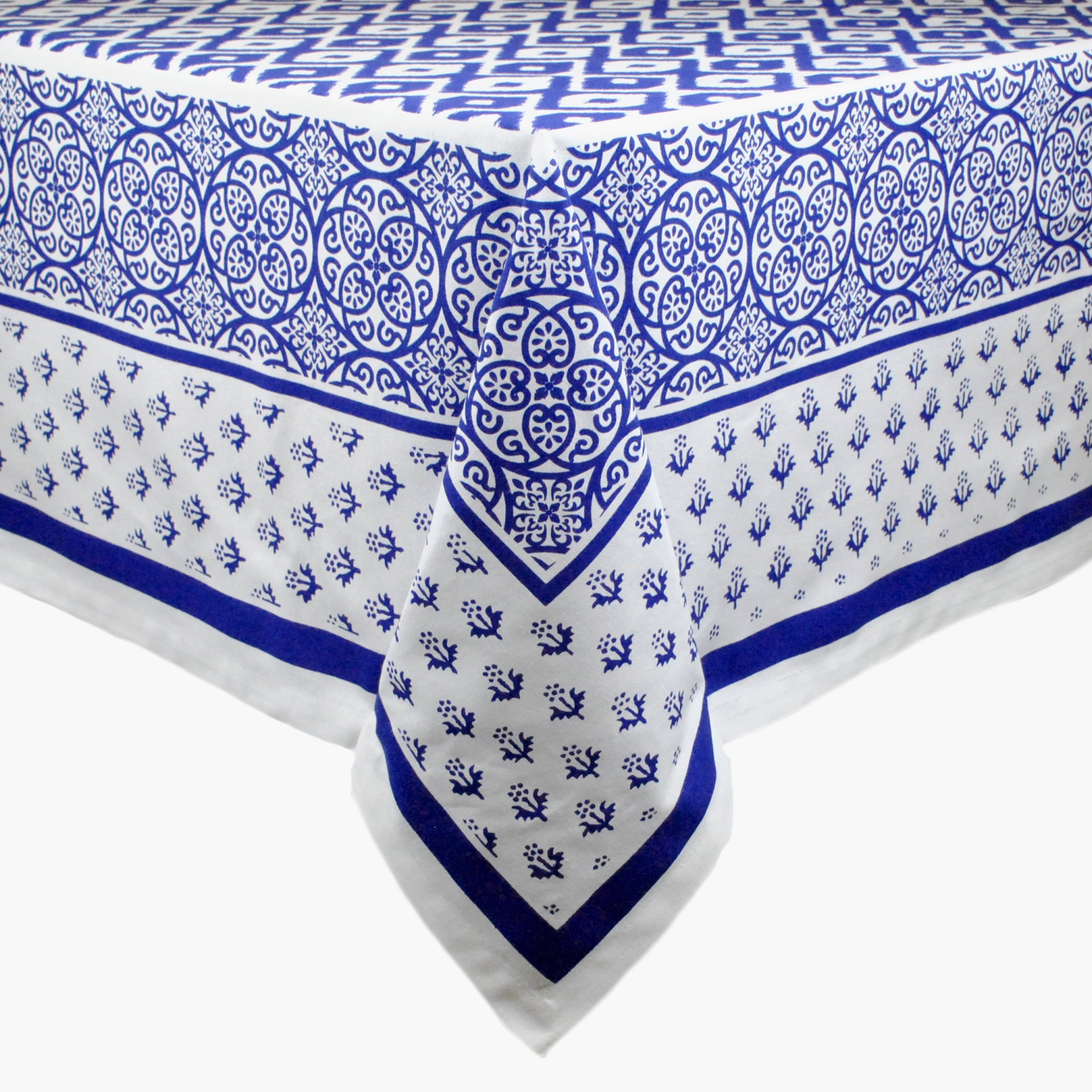 DII CAMZ10808 60x84 Rectangular Polyester Tablecloth, Tunisia Print - Perfect for Spring, Summer, Catering Events, Dinner Parties, Buffets, Weddings or Everyday Use, 60'' x 84'', Black