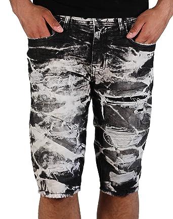 f05adaafd80c5c Jordan Craig Shredded Denim Shorts in Shadow Wash Legacy Edition - -  Amazon.co.uk   Clothing