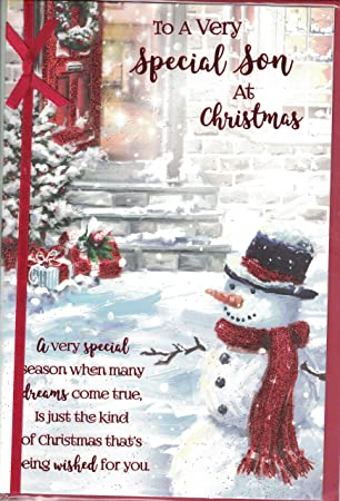 prelude son christmas card christmas wishes to a very special son