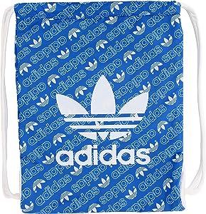 adidas Originals Unisex Trefoil Sackpack, Monogram Bluebird/White, ONE SIZE