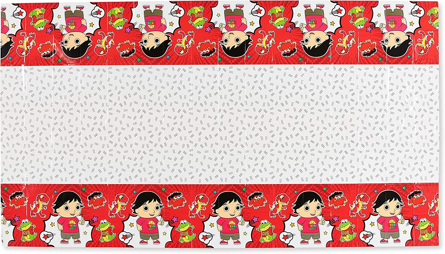 70 x 42 Ryans World Table Cover Birthday Party Supplies Decorations 2 Pcs Ryans World Tablecloth