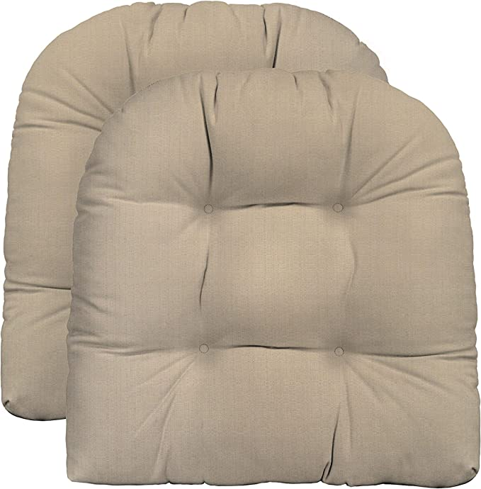 Made with Sunbrella Milano Cobalt RSH D\u00e9cor IndoorOutdoor Round Tufted Bistro Chair Cushion with Ties