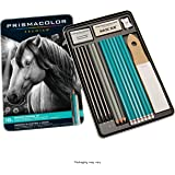 Prismacolor Premier Graphite Pencils with Erasers & Sharpeners, 18 Piece Drawing Pencil Set | Sketching Pencils