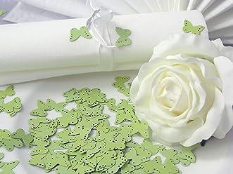 EinsSein 10g Streudeko Hochzeit Butterfly hellgrün Tischdeko Hochzeit ca. 160St