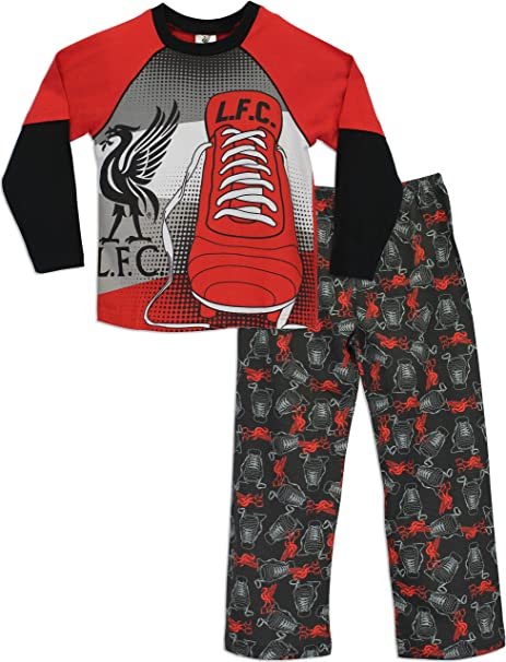 NEW BOYS BLUE EUROPEAN FOOTBALL FULL LENGTH PYJAMA PJ SET AGE 6,7,8,9,10,11 YRS