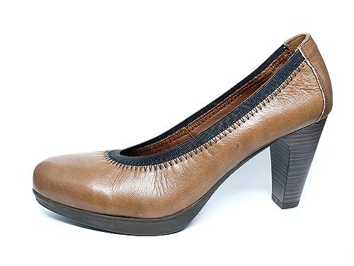 Y Zapatos Cómodos Salón Con Mujer Pitillos Plataforma Color Nogal 8nS8xg