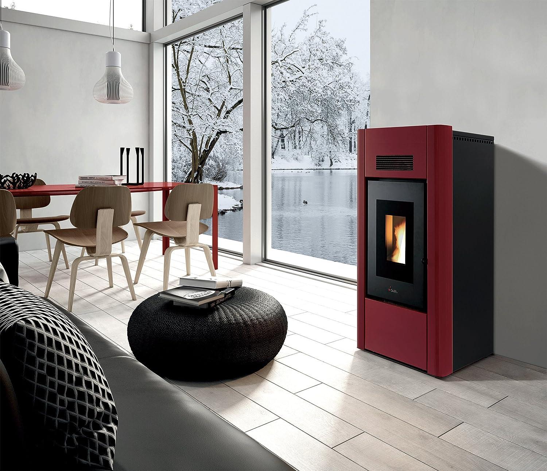 Idro Prince 3 - 16 KW - Metal Rojo Estufa de pellets Calefacción Estufa Casa: Amazon.es: Bricolaje y herramientas