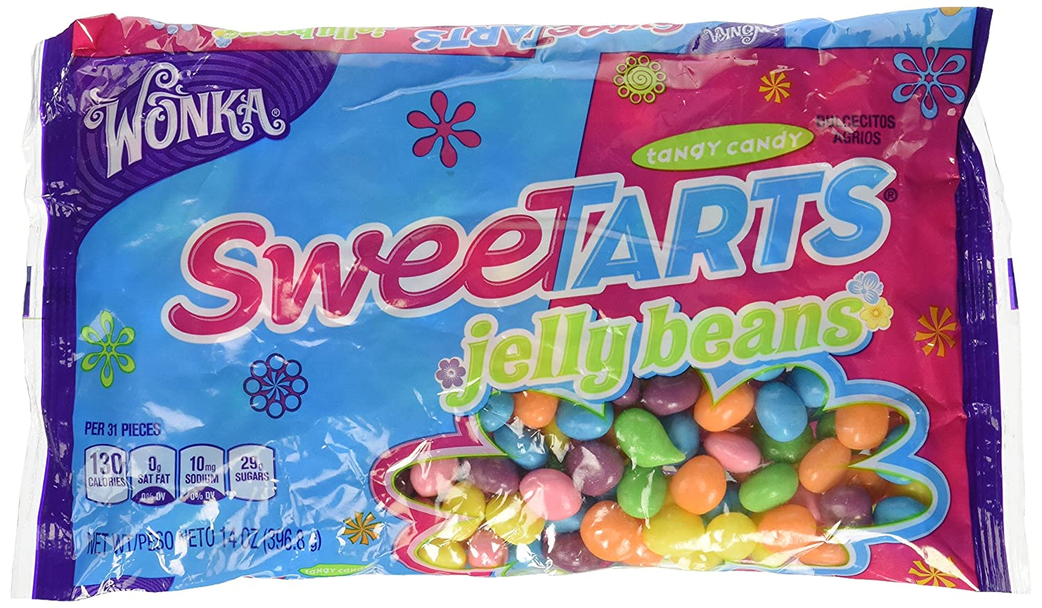 Amazon.com : Wonka Sweetarts Jelly Beans Easter Bag, 14-Ounce ...