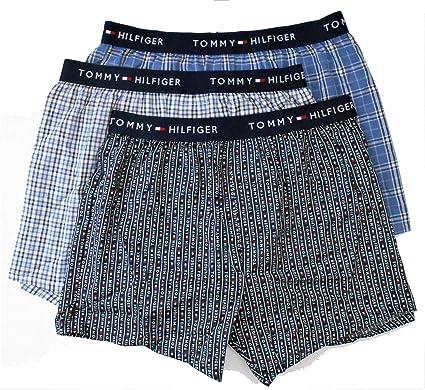 Tommy Hilfiger - Pack de 3 bóxers de algodón para hombre - Azul ...