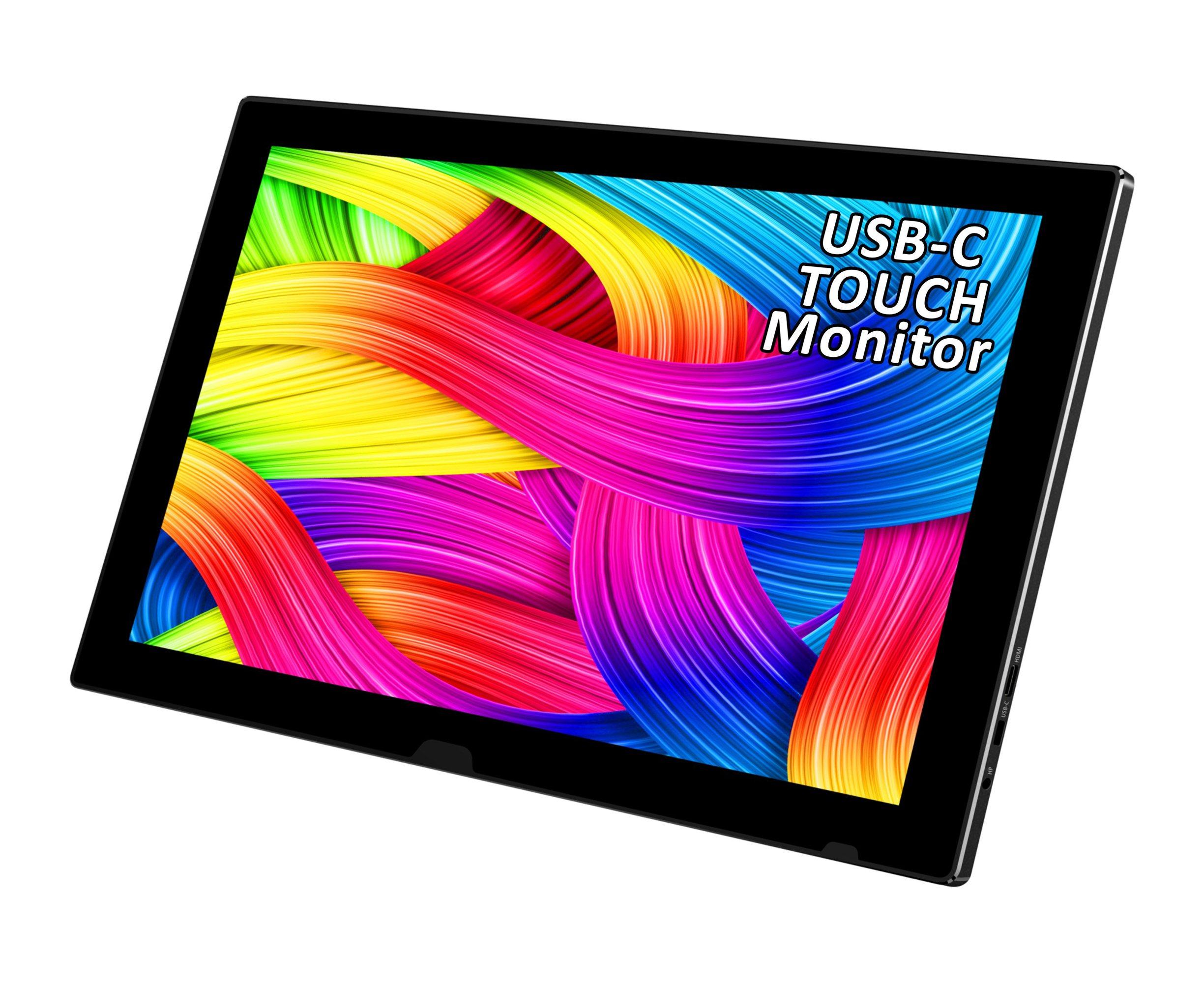 USB Portable Monitor,11.6 Inch 19201080 Full HD IPS Display,10 Points Capacitive Touch,USB C/HDMI Video Input, Extremely Slim 9.8 CM,Alu Body,Bulit In Speakers