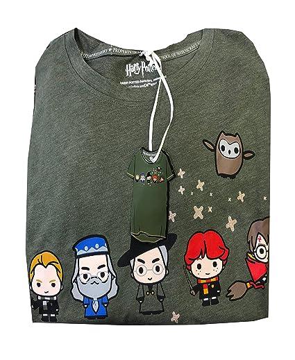 Camisa de Mujer de Harry Potter de Disney, Camiseta de Pijamas para Mujer, Talla