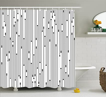 Genial Ambesonne Modern Art Home Decor Shower Curtain By, Minimalist Line Display  Contemporary Links Webs Signal