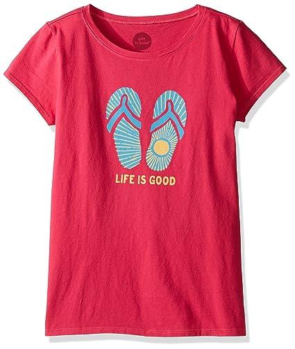 c78723f0b6c Amazon.com  Life is Good Girls Sunshine Flip Flop Tee