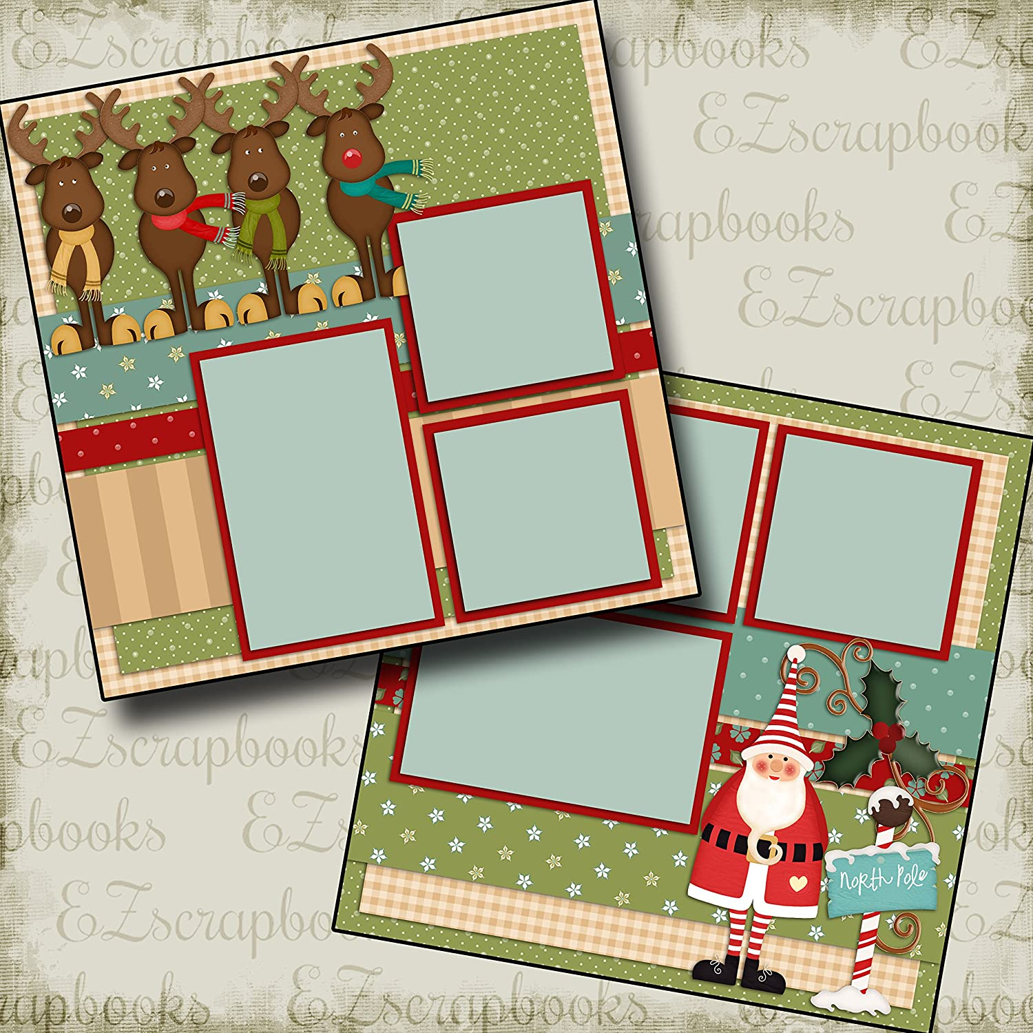 EZ Layout 439 Premade Scrapbook Pages OLD SAINT NICK