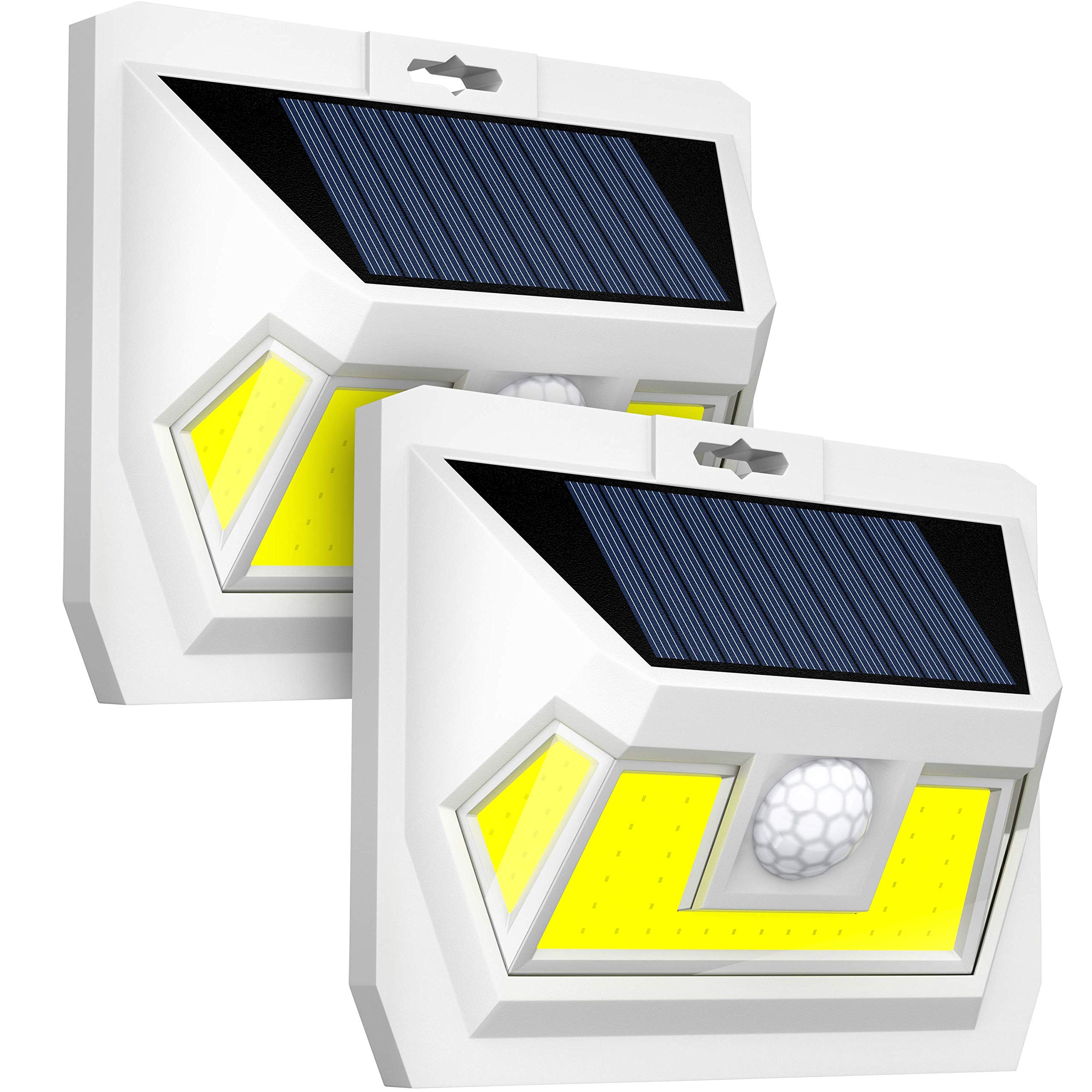 Ludius Solar Motion Sensor Light Outdoor-2 Generation Security Light-Upgraded Motion Detector-Very Bright-54 LEDs-270° Wide Light Angle-Waterproof-Wireless-Easy to Install Led Solar Lights Outdoor