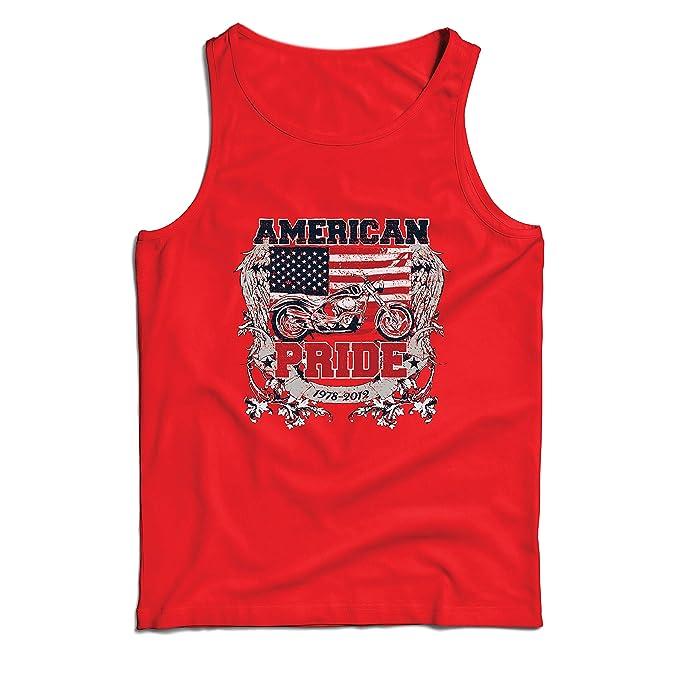 lepni.me Camisetas de Tirantes para Hombre Classic American Pride Moto, Retro Motorcycle, Vintage Motobike (Small Rojo: Amazon.es: Ropa y accesorios