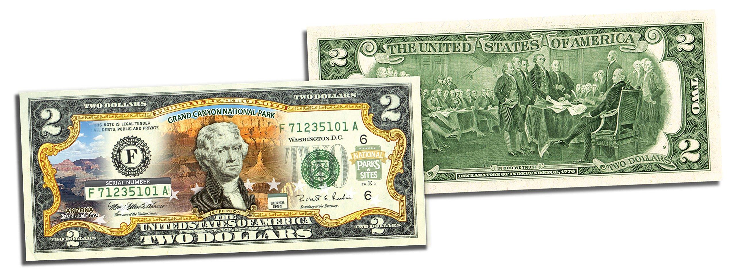 5 Consecutive Serial Number GRAND CANYON NATIONAL PARK $2 Bills US Legal Tender