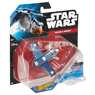 Hot Wheels Star Wars Starship Republic Gunship Tiger Shark: Toys & Games