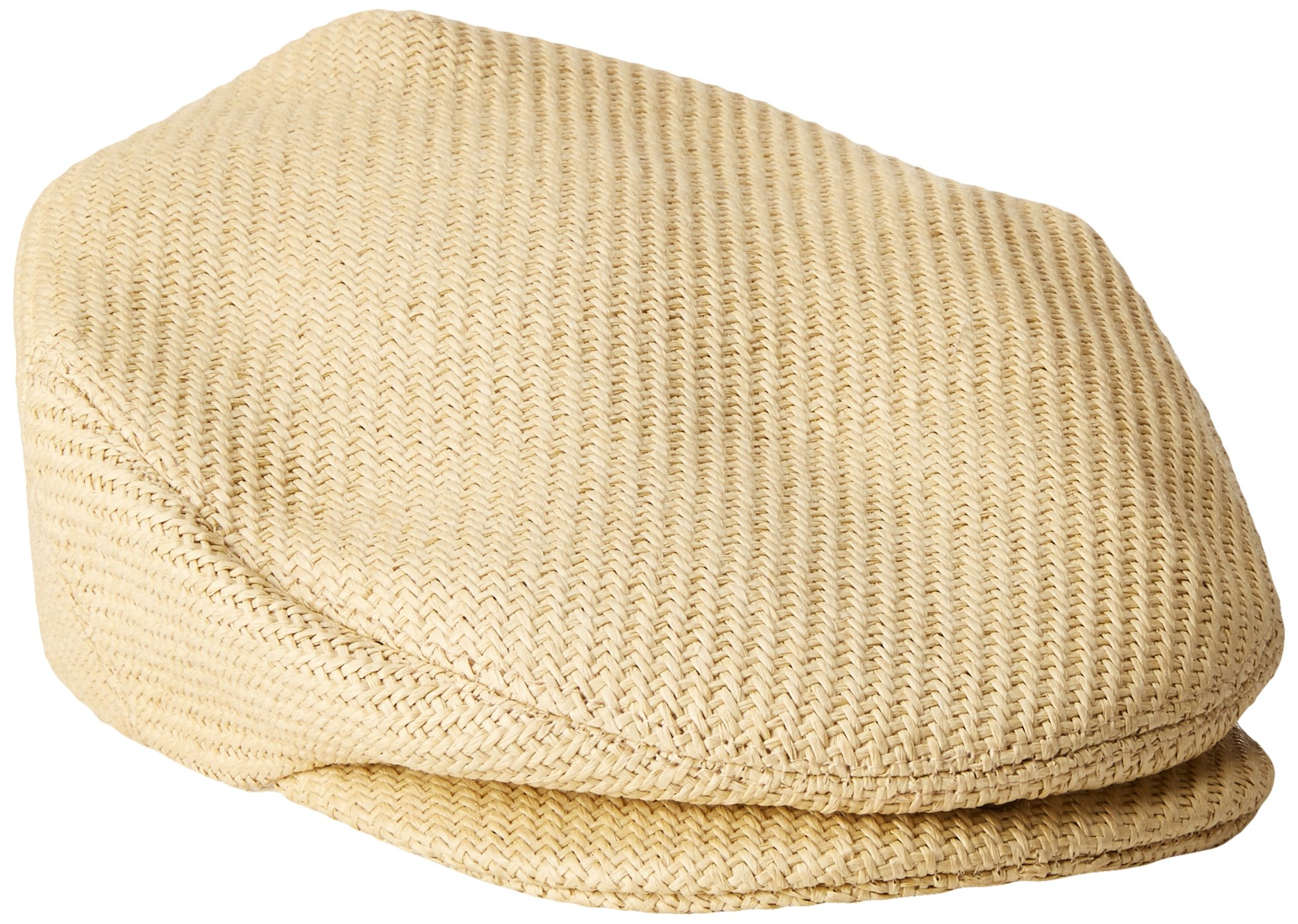 Henschel Men's Soft Straw Weave Ivy Hat with Cotton Lining, Wheat, Large