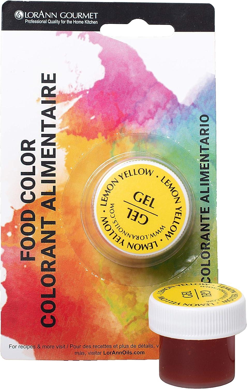 LorAnn Lemon Yellow Gel Food Color 1/2 ounce - Blistered