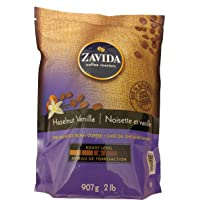 Zavida Hazelnut Vanilla Premium Whole Bean Coffee 907g., 100% Arabica, 2lb. bag, New on the Market