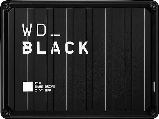 WD BlackP10 - Game Drive de 4 TB para Acceder en Cualquier Momento a tu Biblioteca de Juegos, Funciona con Consola y PC