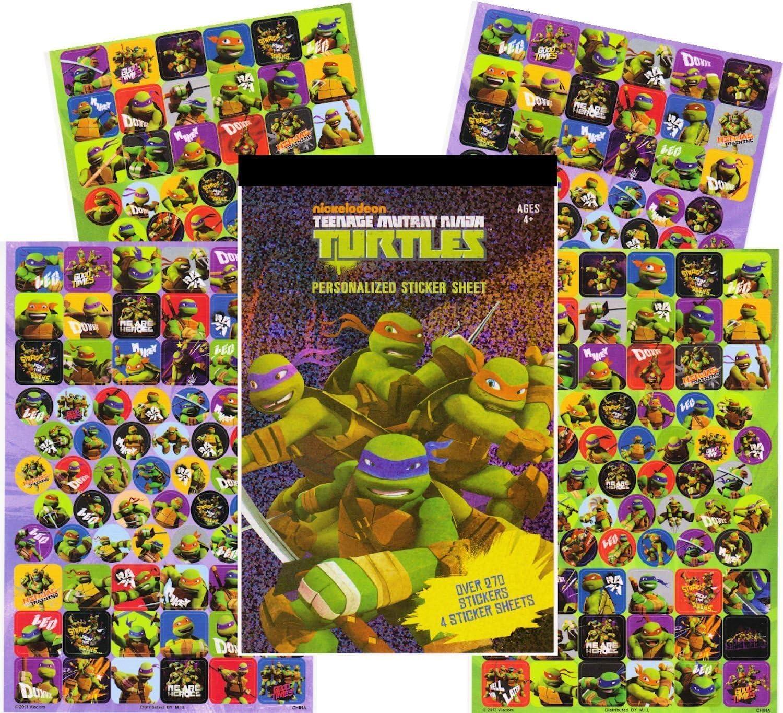 Teenage Mutant Ninja Turtles Sticker Pad - Over 270 TMNT Stickers