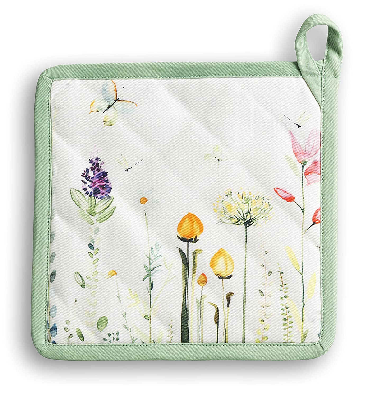 Maison d Hermine Botanical Fresh 100% Cotton Pot Holder 8 Inch by ...