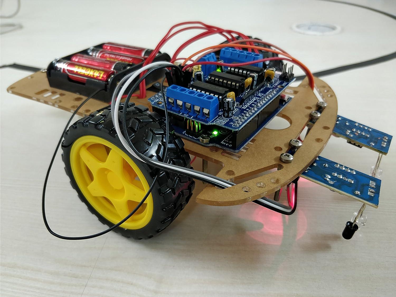 Robocraze Diy Line Follower Kit Using Arduino Uno Robot Rc A 617 Electrical Wiring Nz Industrial Scientific