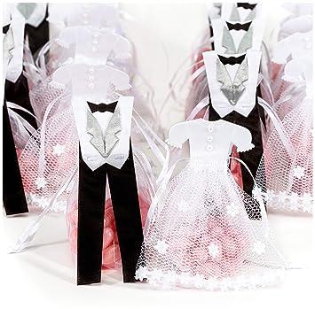 a1e3677257bc Amazon.com  Pardao Bride   Groom Wedding Favor Bags - Thank You ...