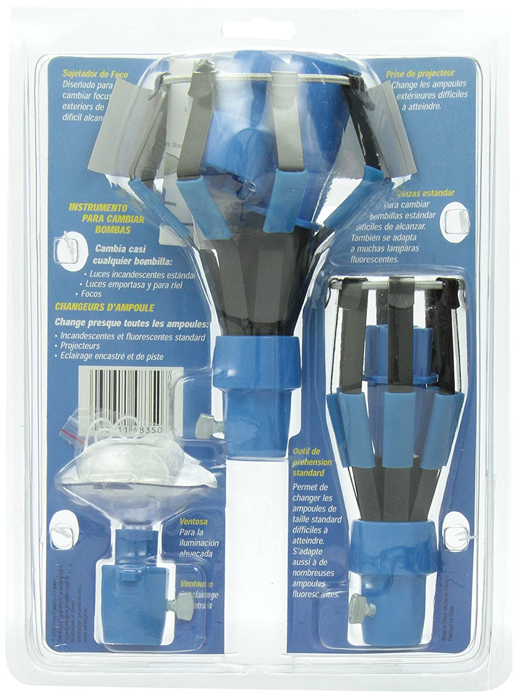 11.43 x 19.05 x 26.67 cm blau//schwarz Plastik Ettore 48350 Gl/ühbirnenwechsler ohne Stange