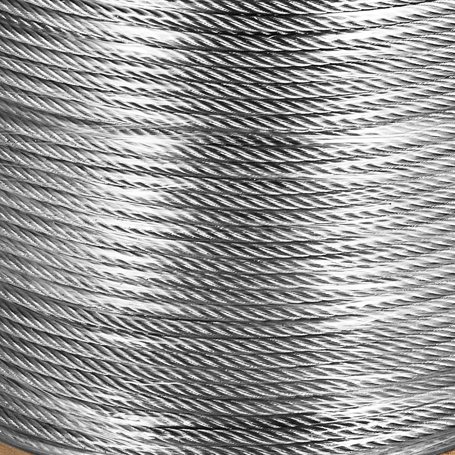 BestEquip/316 Stainless Steel Cable 700FT Stainless Steel Wire Rope 1//8 Inch 1x19 Steel Cable for Railing Decking DIY Balustrade 700FT