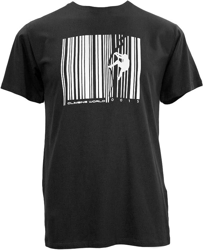 Charko diseños Crack del Hombre V Rock Escalada Camiseta ...