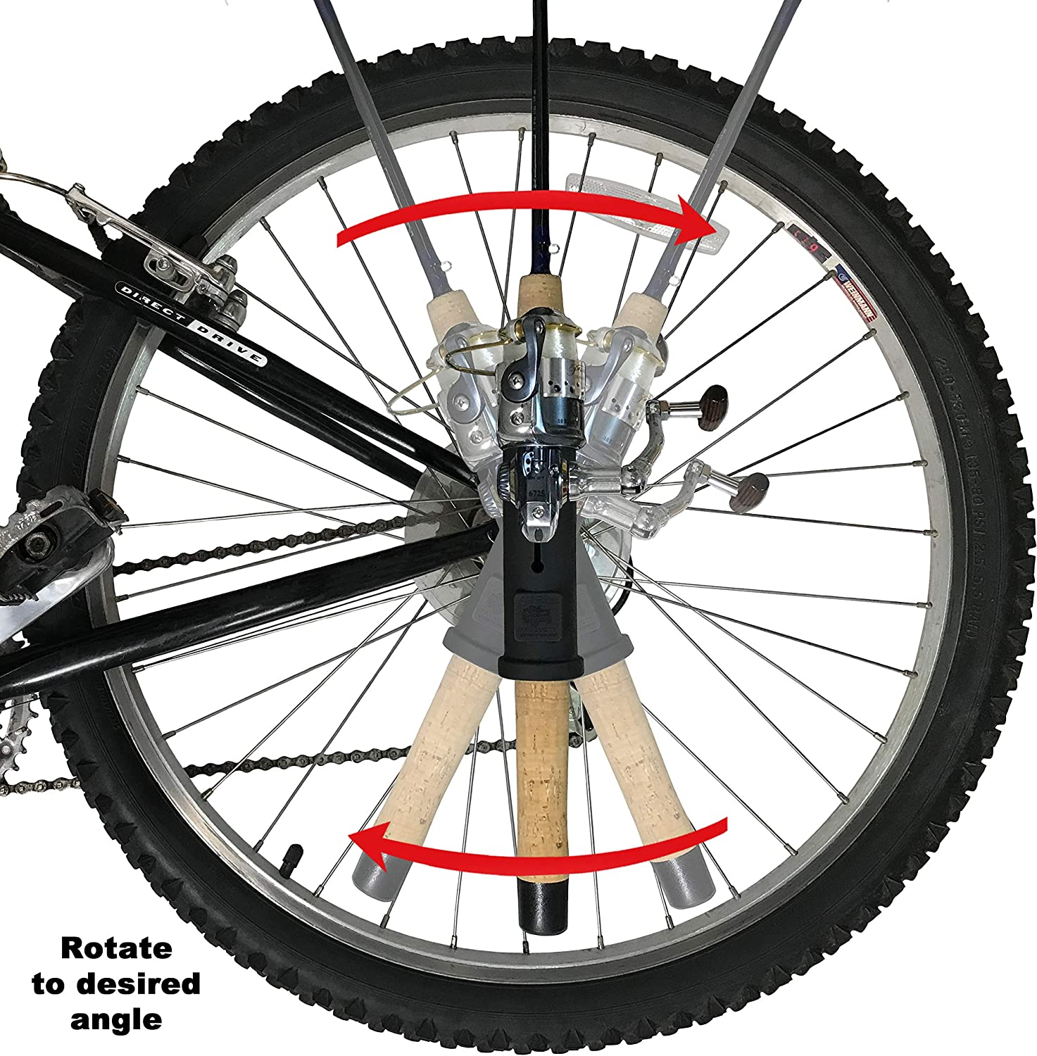 All Rite Products Bike Spinning Rod Holder Model CR1 Carries a Fishing Pole on a Bicycle or an ATV