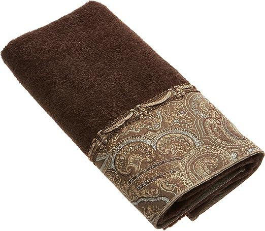Java Blue Avanti Linens Blocks Fingertip Towel