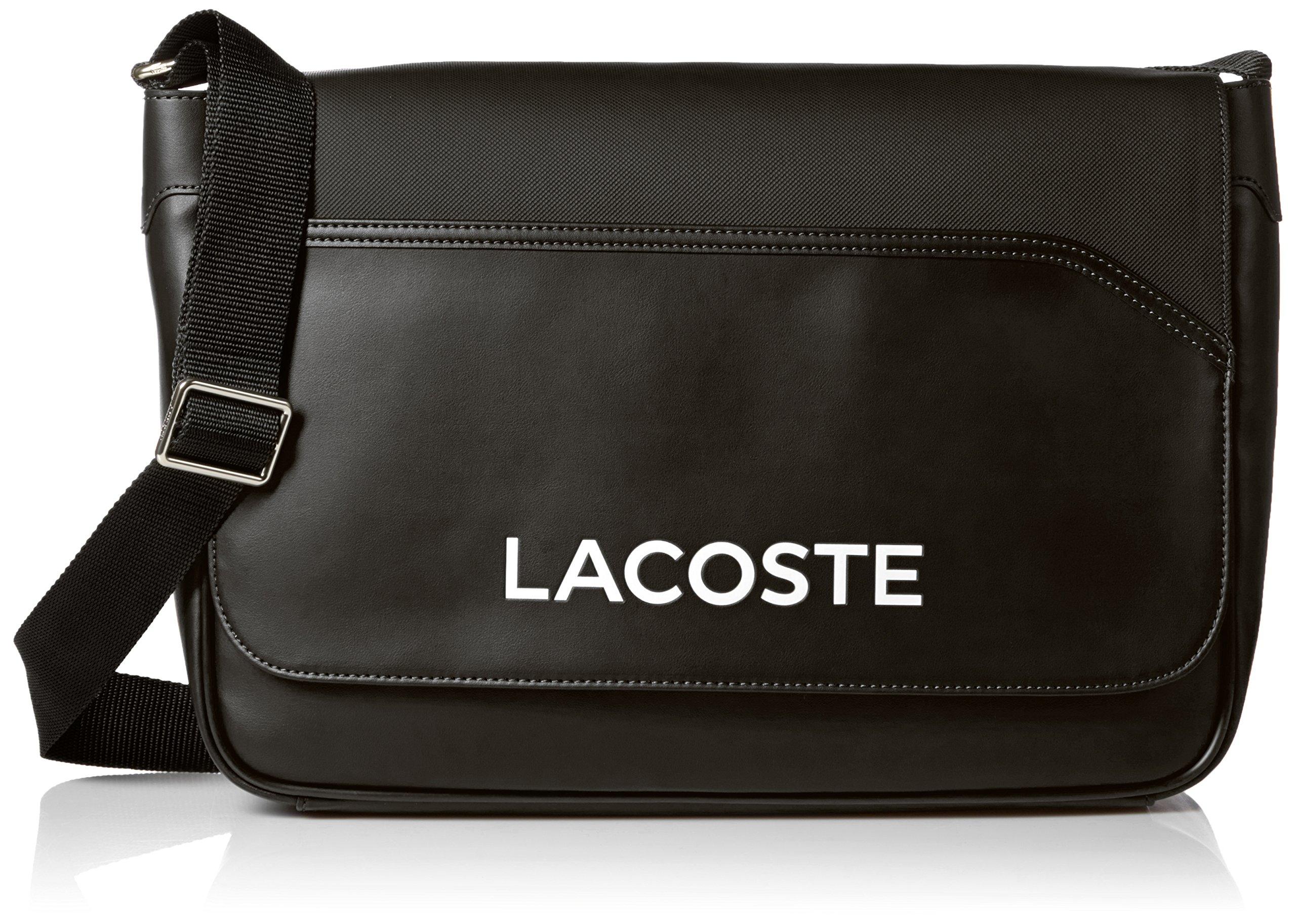 Lacoste Men's Ultimum Messenger Bag, Black
