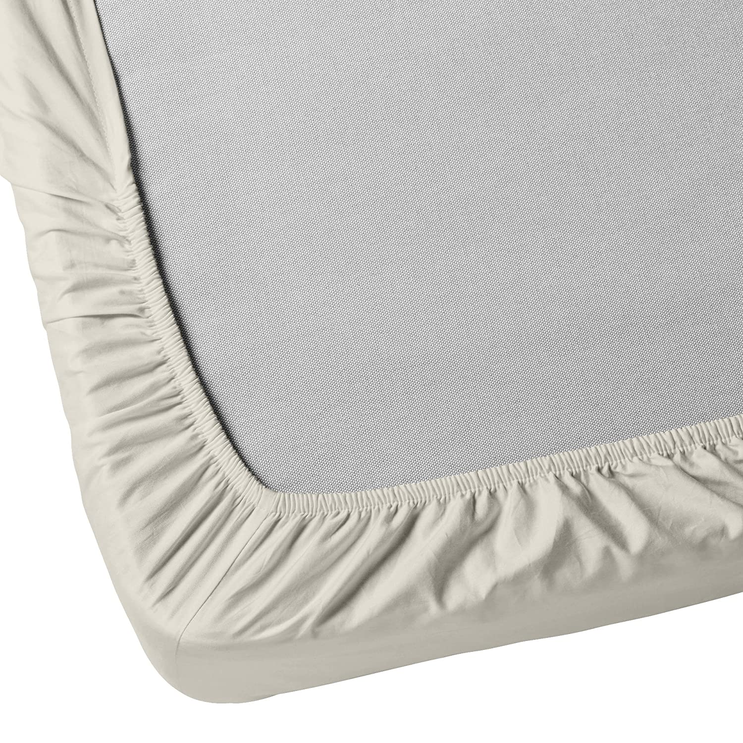 39 X 75 with 14 Deep Pocket Pack of 1 Cream Hypoallergenic Jersey Knit Twin Size Fitted Bottom Sheets Ideal for Twin Bed Mattress