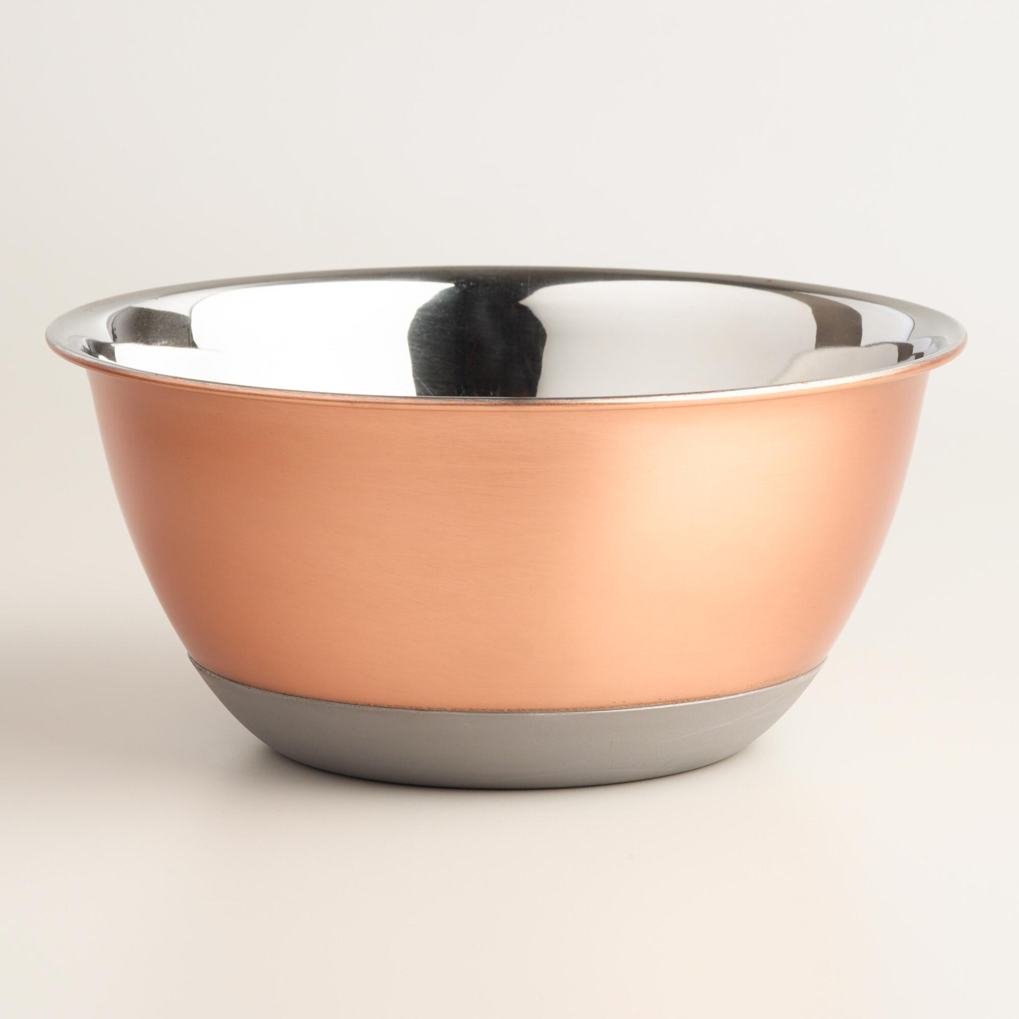 2 Quart Copper Nonskid Mixing Bowl   World Market
