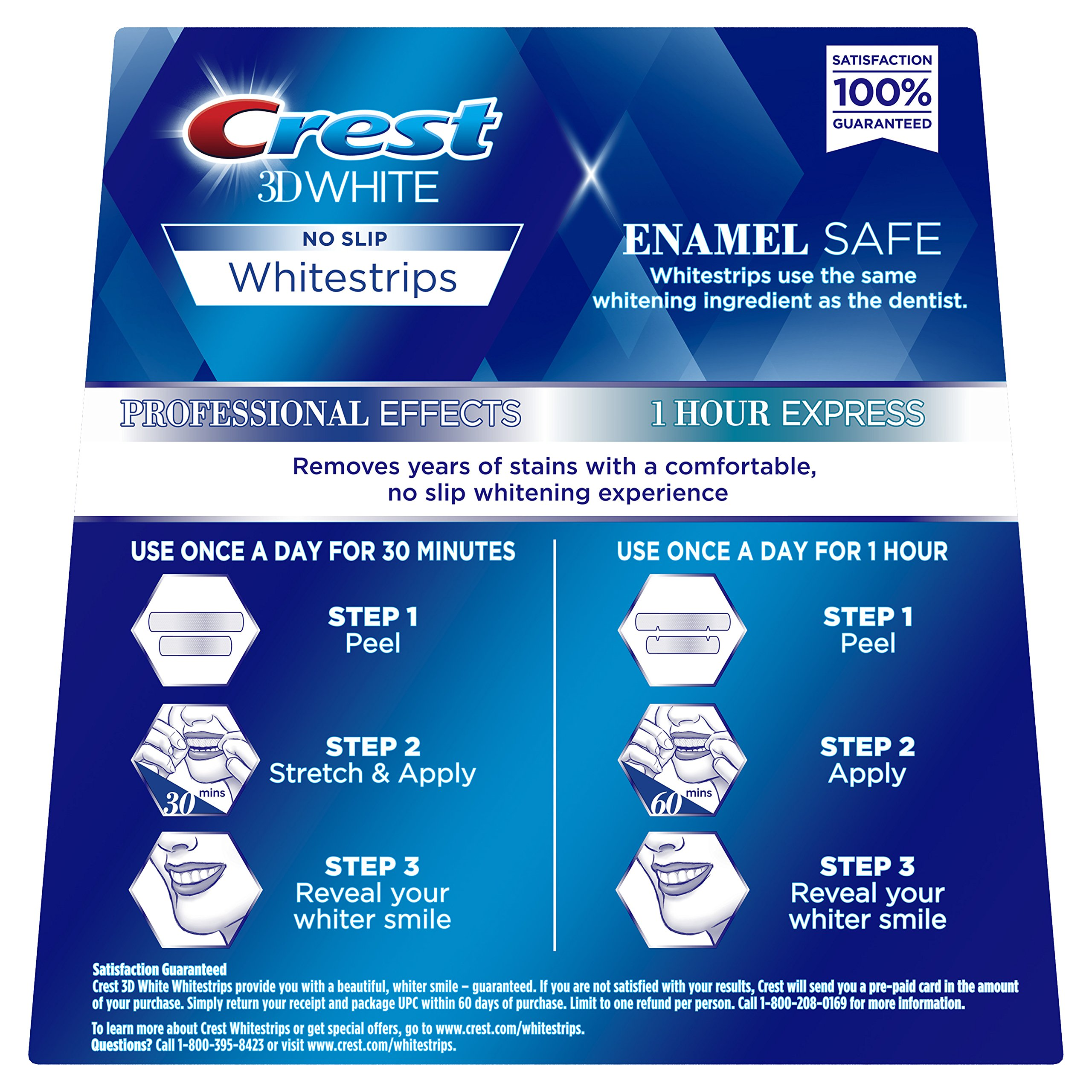 Crest 3D White Professional Effects Whitestrips Whitening Strips Kit, 22 Treatments, 20 Professional Effects + 2 1 Hour Express Whitestrips by Crest (Image #2)