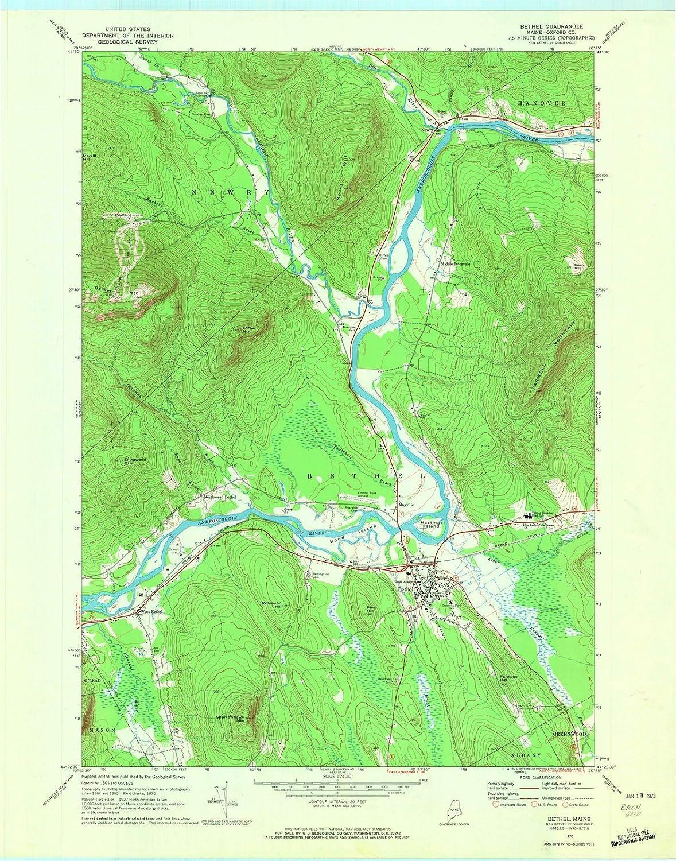 Amazon Com Maine Maps 1970 Bethel Me Usgs Historical Topographic