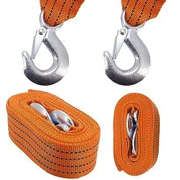 Amazon.es: Cuerda de Remolque caliwaro, 5 toneladas, Cuerda de Arrastre, Correa de Arrastre, Cuerda de Pescar, Ayuda para remolcar Coches, Camiones