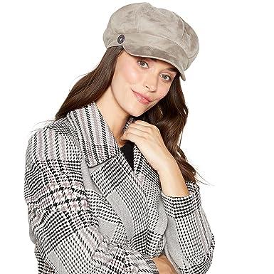 4af6a4f9b41c76 Rjr.John Rocha Grey Suedette Faux Fur Lined Baker Boy Hat: RJR.John ...