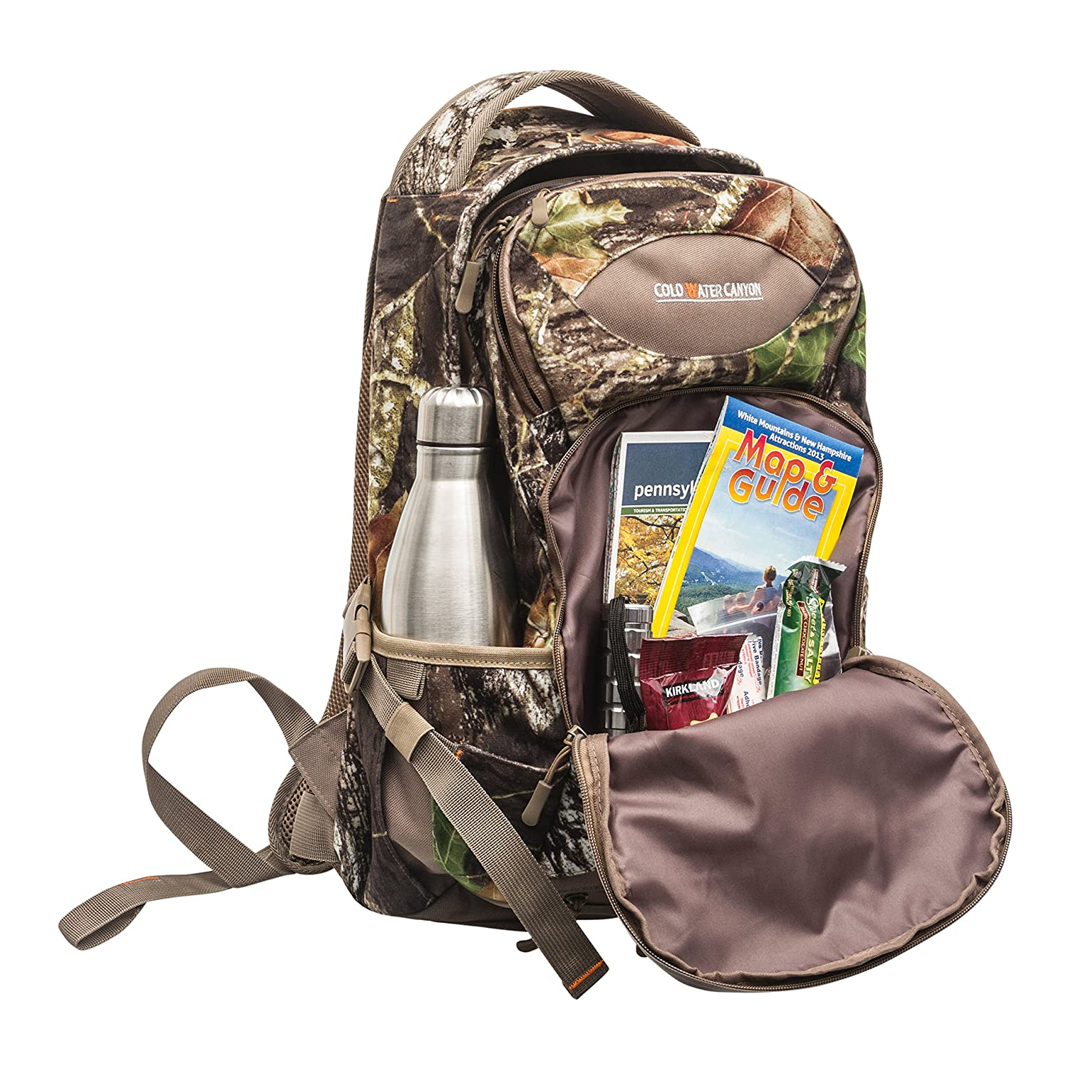 Mossy Oak Camouflage Long Strapped Water Resistant BackPack with Rain Cover