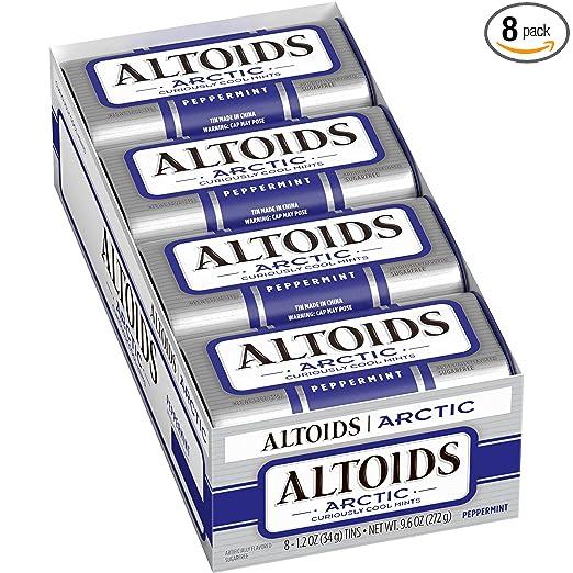 Altoids Artic Mints, Peppermint, 1.2 Ounce (Pack of 8)