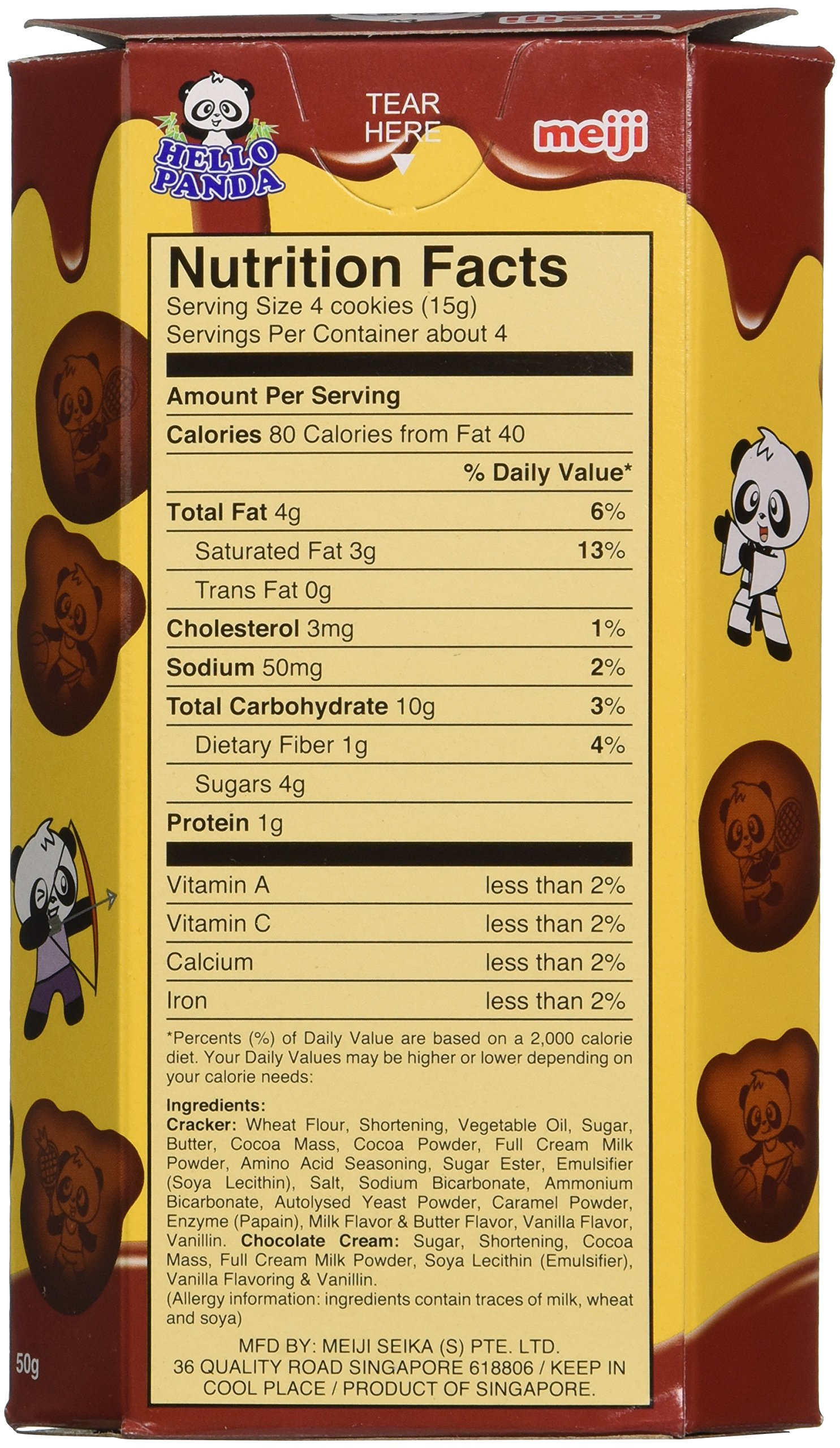 Meiji Hello Panda Double Chocolate Creme Filled Cookies, 1.74 Ounce by Meiji (Image #2)