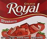 Royal Gelatin, Fat Free Dessert Mix, Strawberry (12 - 1.4 oz Boxes)